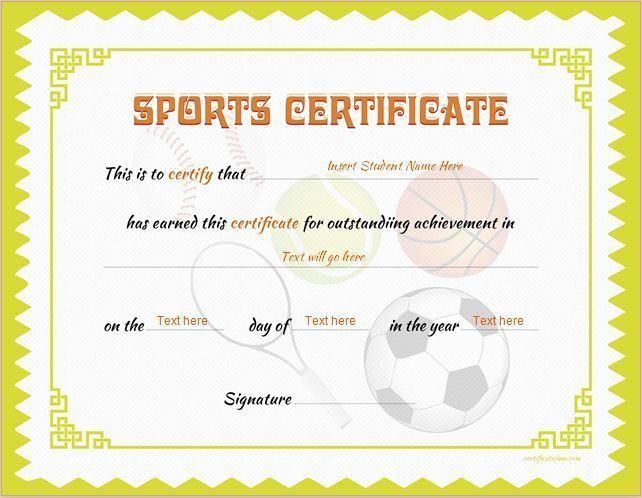 Sports Certificate Template for MS Word DOWNLOAD at http ...