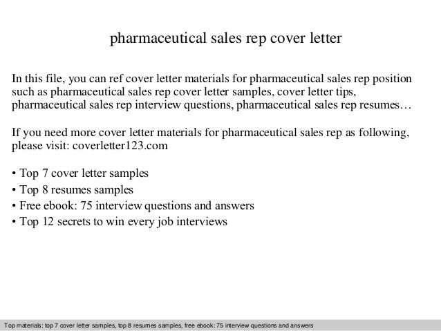 Sales Representative Cover Letter Examples