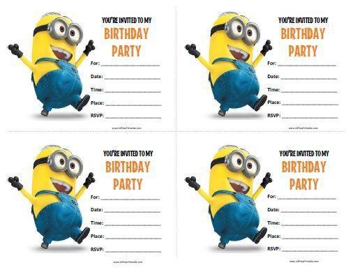 Best 25+ Minion birthday invitations ideas on Pinterest | Minions ...