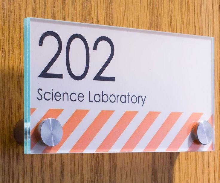 Workshop Series 6 x 3 Door Sign w/ Acrylic Plates, Standoffs ...