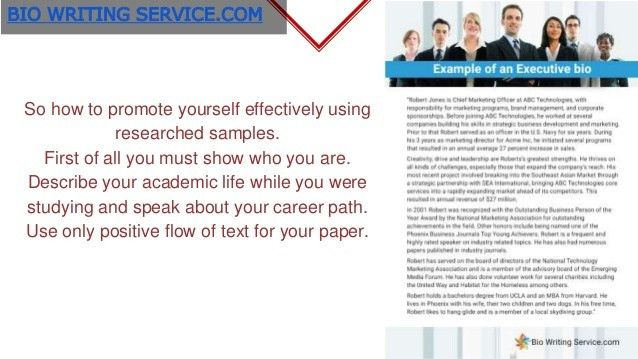Writing a professional Bio: Best professional Bio Examples to Use