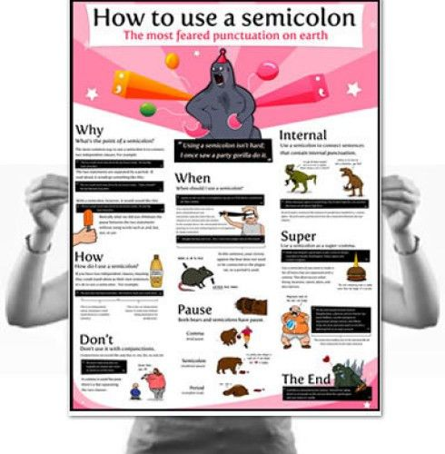 The Semicolon: Most Feared Punctuation on Earth! | The Writing ...