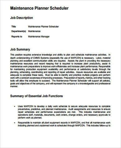 Maintenance Planner Resume Pdf. sample resume of maintenance ...
