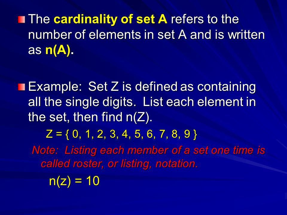 Chapter 7 Sets and Probability Section 7.1 Sets What is a Set? A ...