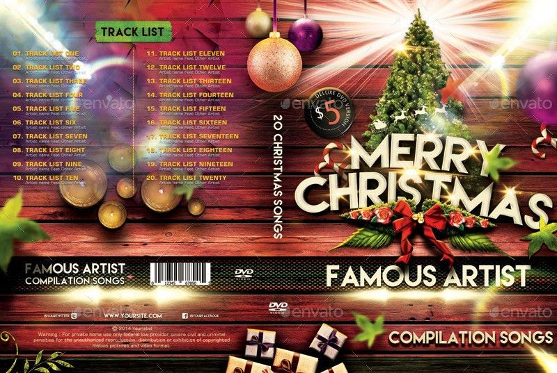 Christmas DVD Cover Templates by Dkasparov | GraphicRiver