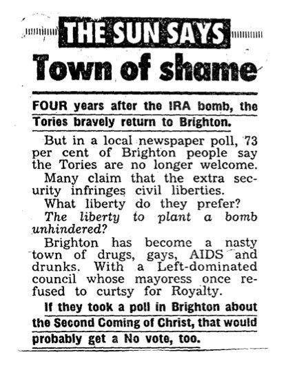 Kelvin MacKenzie and the 1988 'Brighton: Town of Shame' editorial ...