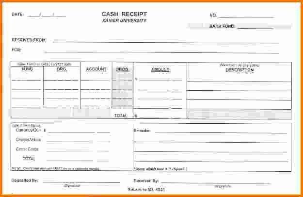 7+ cash receipt form   Expense Report