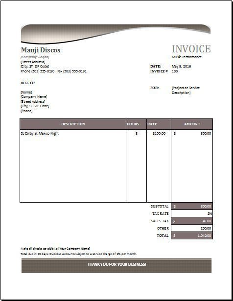 39 best Microsoft Excel Invoices images on Pinterest | Microsoft ...