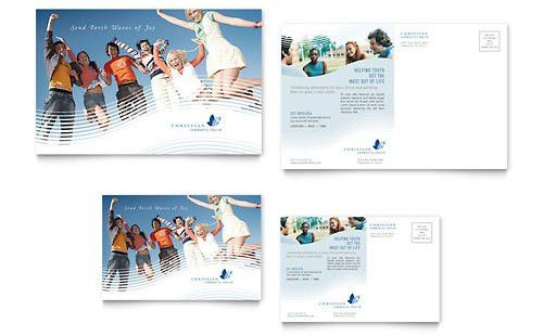 Christian Ministry Postcard Template Design