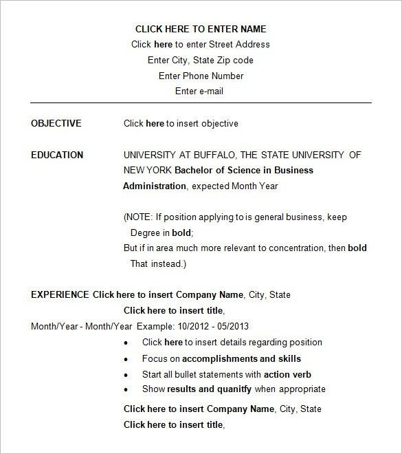 15+ Business Resume Templates – Free Samples, Examples, & Formats ...