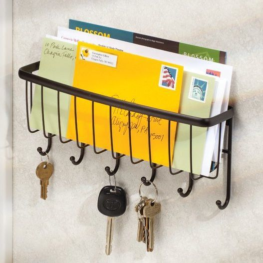 InterDesign Axis Mail Letter Holder and Key Hooks & Reviews | Wayfair