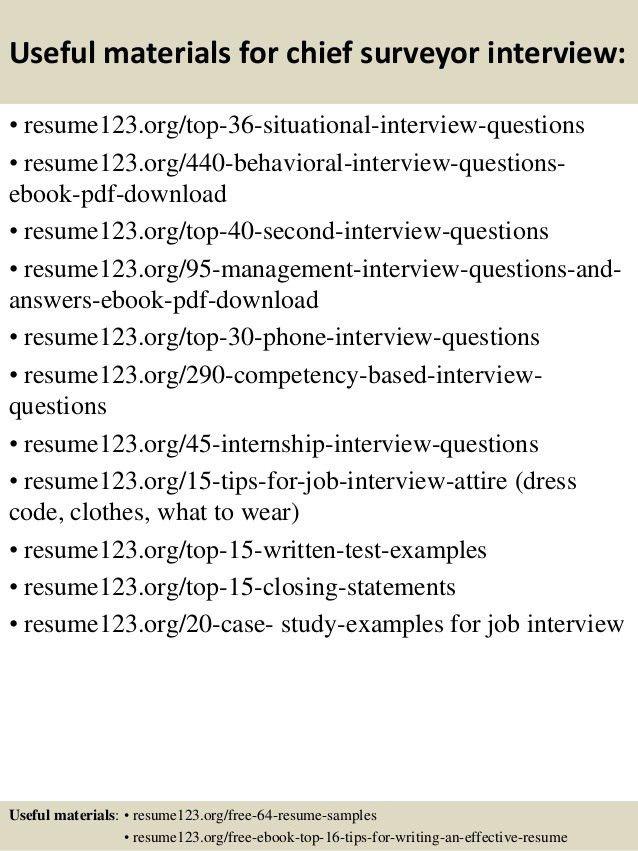 Top 8 chief surveyor resume samples