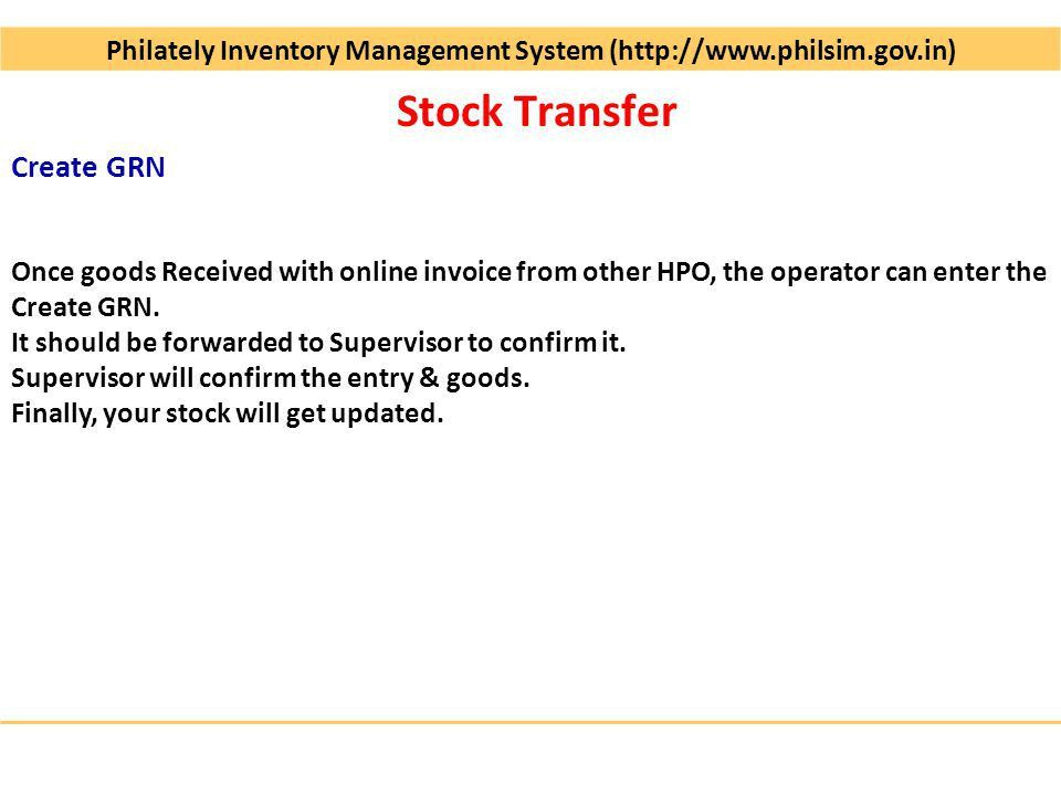 Philately Inventory Management System ( Operational since Dec-2009 ...