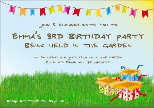 Kids Birthday Invitation Wording - Themesflip.Com