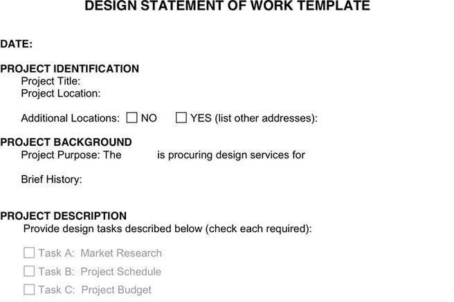 Work Statement Template | Download Free & Premium Templates, Forms ...