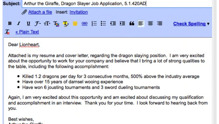 sample email cover letter template to download 11 free email