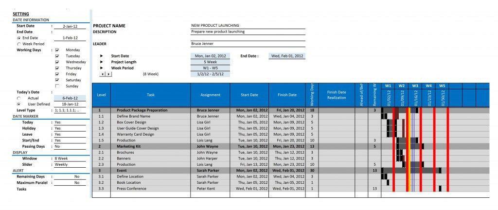 Gantt Chart | Excel Templates
