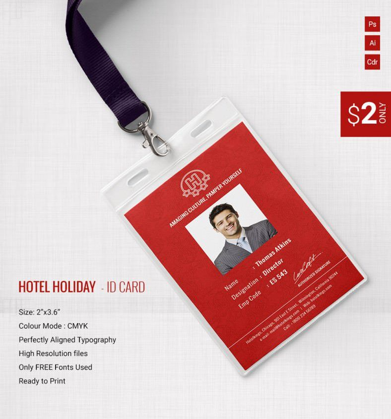 Gorgeous Hotel & Holiday Identity Card Template | Free & Premium ...