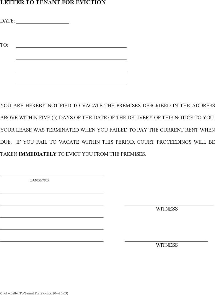 notice of eviction template - thebridgesummit.co