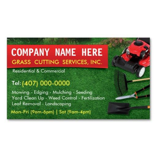 Landscaping Lawn Care Mower Business Card Template   Lawn Care ...