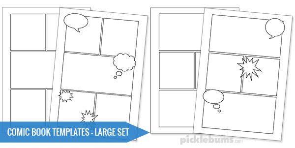 Free Printable Comic Book Templates! - Picklebums