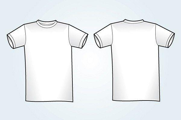 Blank White T-Shirt Template   TopVectors.com