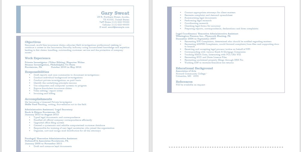 Security Resumes – Sample Resumes