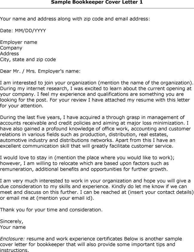 Nice Looking Bookkeeper Cover Letter 15 Accounting Bookkeeper ...