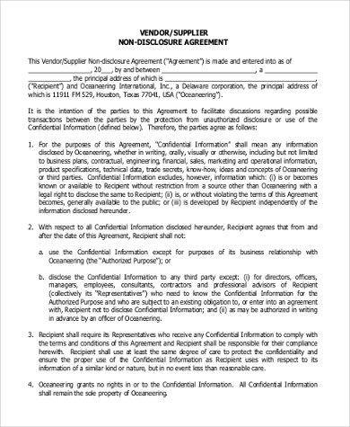 Business Non Disclosure Agreement. Mutual Non-Disclosure Agreement ...