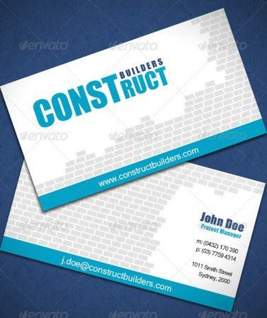 Construction Business Card Template | Business Card Critic - Rate ...