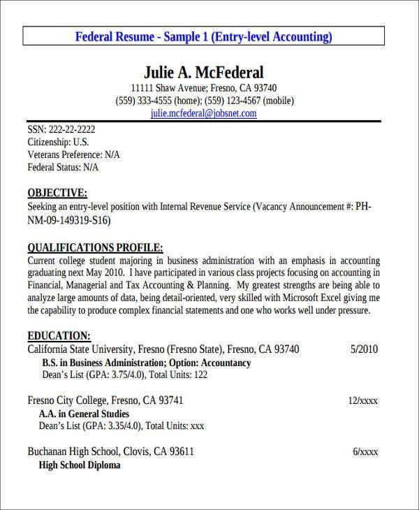 Entry Level Accountant Resume Sample  Sample Entry Level Resume