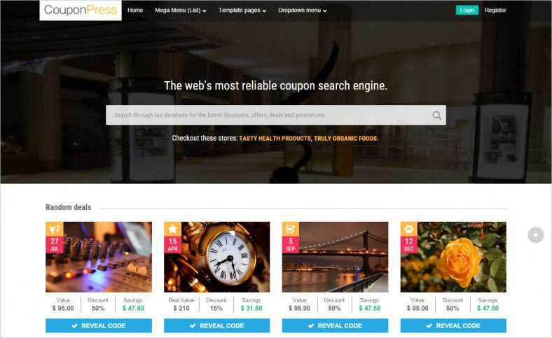 21+ Best Coupon Website Templates & Themes | Free & Premium Templates