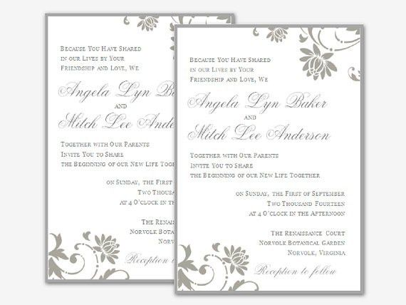 27 Wedding Invitation Templates Microsoft Word | Vizio Wedding