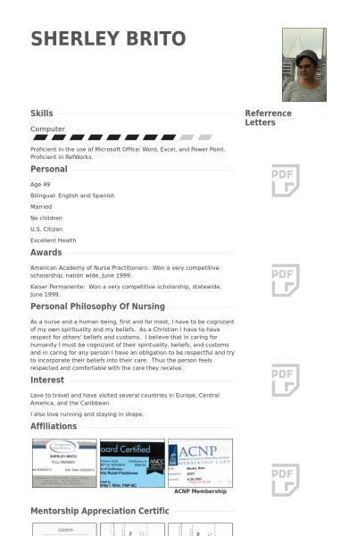 Nurse Practitioner Resume samples - VisualCV resume samples database