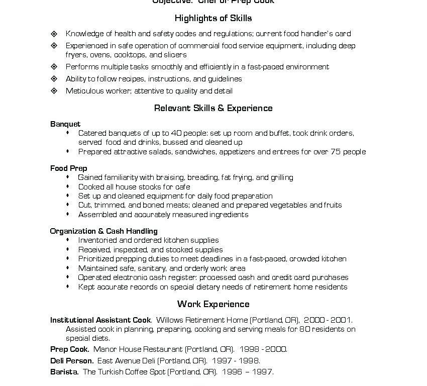 Lead Line Cook Resume Examples. cooks resume resume cv cover ...