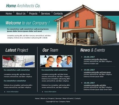 Free website templates with Architecture theme - 1