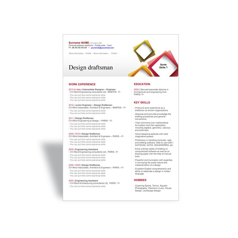 draftsman resume sample 7 draftsman resume templates free word
