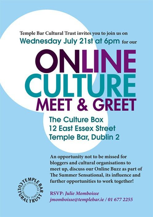 Invitation to Online Culture Meet & Greet on...