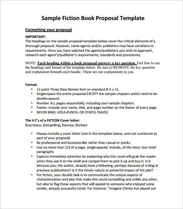 Book Proposal Template | onlinecashsource