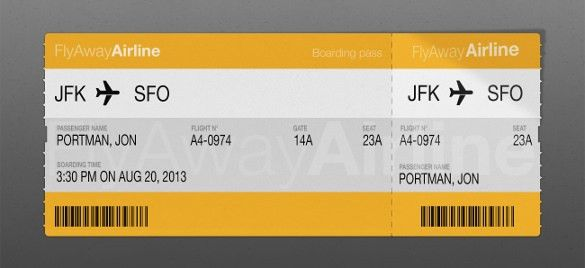 21+ Examples of Boarding Pass Designs & Ideas! | Free & Premium ...