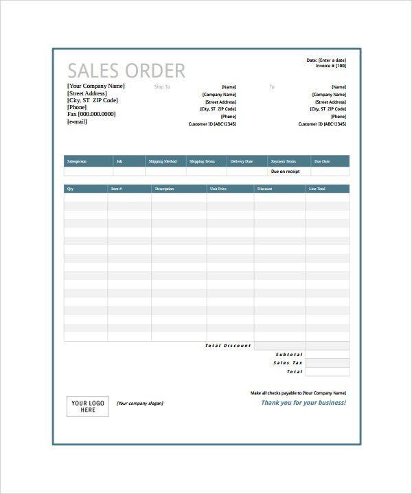 Business Order Form. Order Form Custom Order Form Printable ...