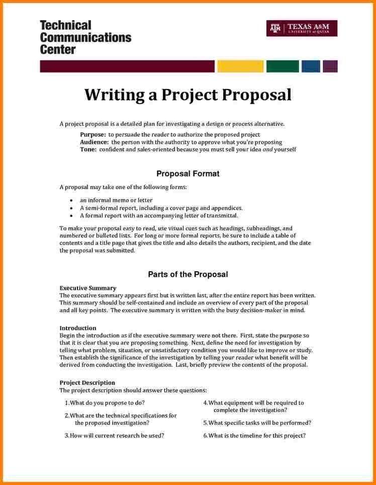 Marketing Project Proposal Template [Template.billybullock.us ]
