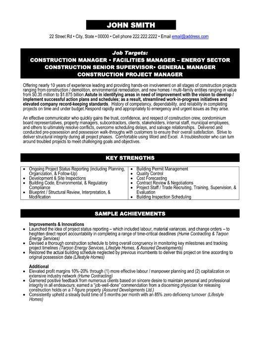 Download Construction Project Manager Resume Examples ...