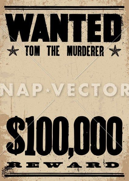Poster Template » Wanted Poster Template Publisher - Poster ...