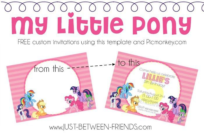 My Little Pony Invitations | Free Template - Just Between Friends