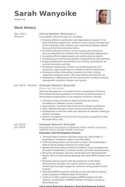 Technician Resume samples - VisualCV resume samples database