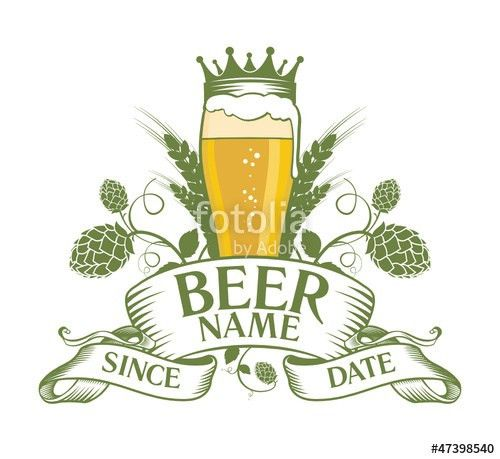 "Beer label design template"" Stock image and royalty-free vector ..."