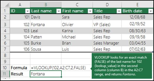 VLOOKUP function - Office Support