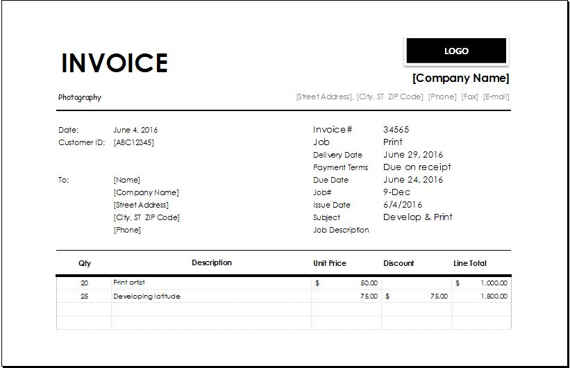 Newspaper Subscription Invoice Template | EXCEL INVOICE TEMPLATES