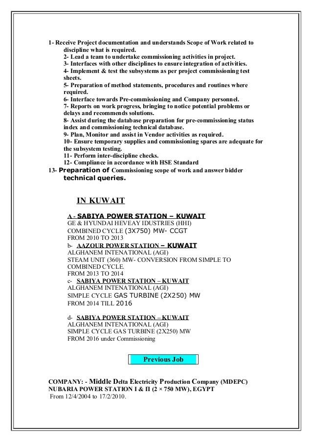 lead electrical commissioning engineer